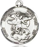 Bliss Saint Michael Medal and Chain