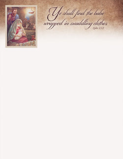 Ye Shall Find the Babe - Christmas Letterhead