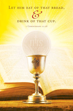 Let Him Eat Of That Bread & Drink Of That Cup - First Holy Communion Bulletin