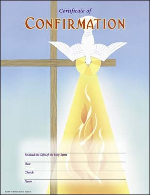 Hermitage Art - Holy Spirit Descend Upon Us - Confirmation Certificate