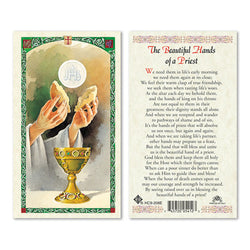 Beautiful Hands of a Priest Prayer Card