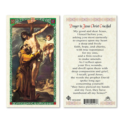 Christ Crucified Prayer Card