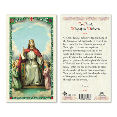 Christ King of the Universe Prayer Card