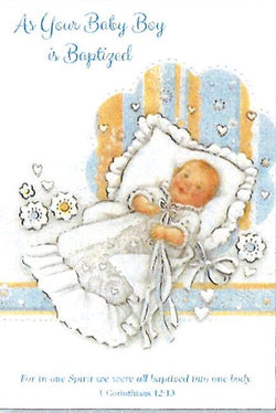 Greetings of Faith - As Your Baby Boy is Baptized - Greeting Card