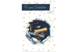 Greetings of Faith - On Your Graduation - Greeting Card