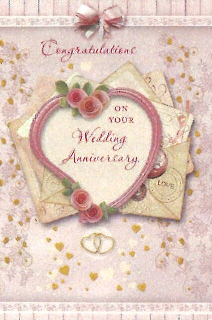 Greetings of Faith - Congratulations On Your Wedding Anniversary - Greeting Card