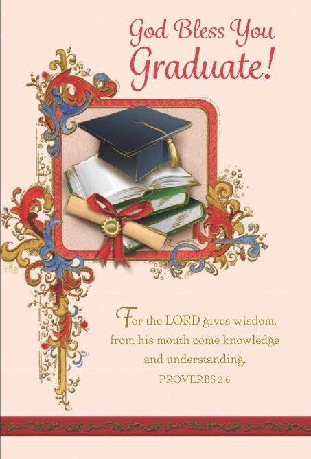 Greetings of Faith - God bless You Graduate! - Greeting Card