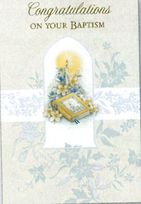 Greetings of Faith - Congratulations On Your Baptism - Suitable for Adult Baptism - Greeting Card