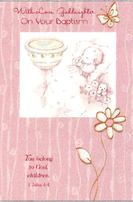 Greetings of Faith - With Love Goddaughter on Your Baptism - Greeting Card