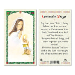1st Communion Girl Contemporary Image Prayer Card