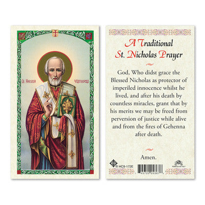 St. Nicholas Traditional Prayer Prayer Card