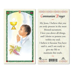 1st Communion Boy Prayer Card