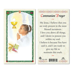 1st Communion Girl Prayer Card