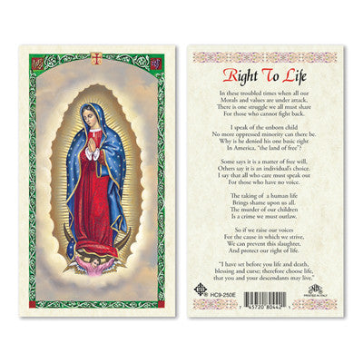 Right to Life Prayer Card