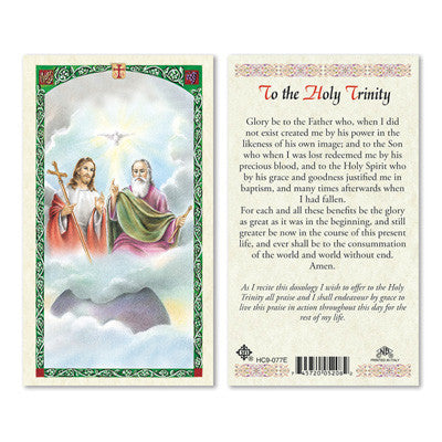 Holy Trinity Prayer Card