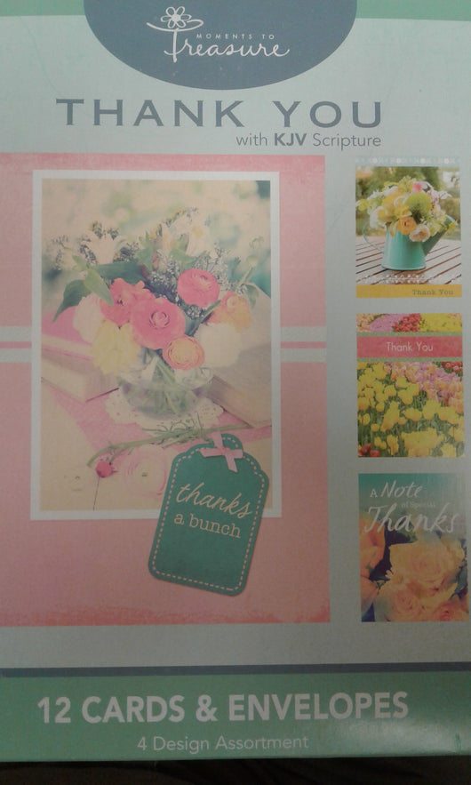 Thank You Greeting Cards: with KJV Scripture