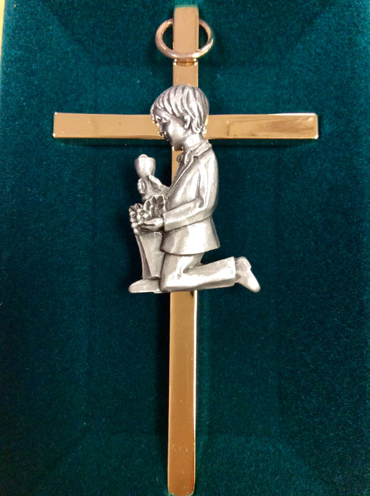Gold plated cross First Communion 4