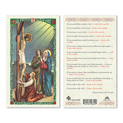Look at the Crucifix Prayer Card