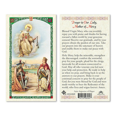 Mother of Mercy Prayer Card