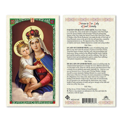 Our Lady of Good Remedy Novena Prayer Card