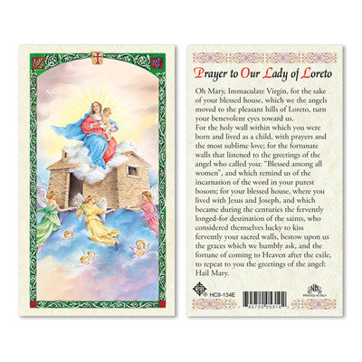 Our Lady of Loreto Prayer Card