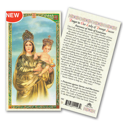 Our Lady of Prompt Succor Prayer Card