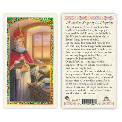 St. Augustine Prayer Prayer Card