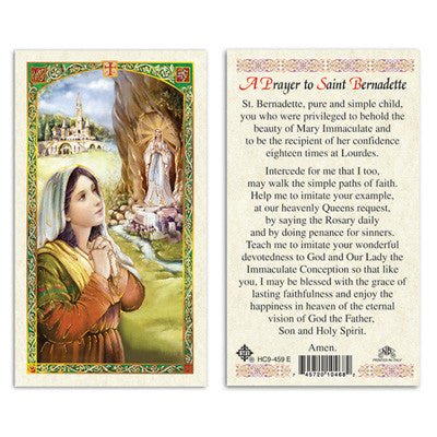 St. Bernadette Prayer to
