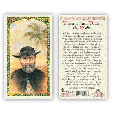 St. Damien of Molokai Prayer Card