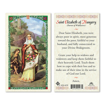 St. Elizabeth of Hungary Prayer Card