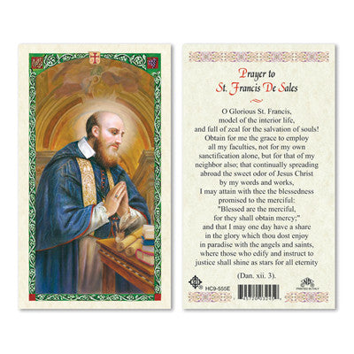 St. Francis de Sales Prayer Card