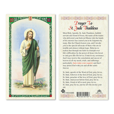 St. Jude Thaddeus Prayer Card