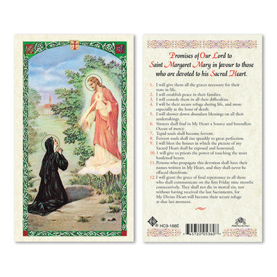 St. Margaret Mary Promises of Our Lord Prayer Card