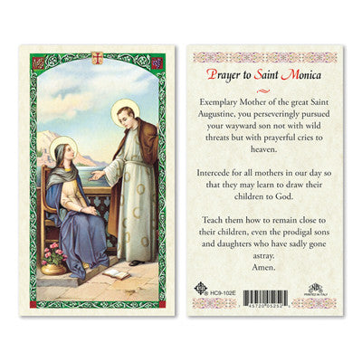 St. Monica Prayer Card