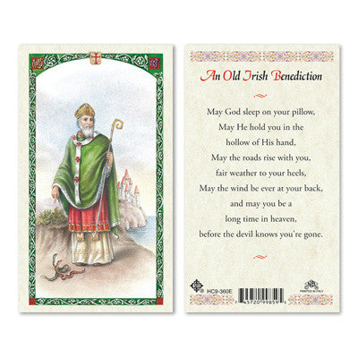St. Patrick Old Irish Benediction Prayer Card
