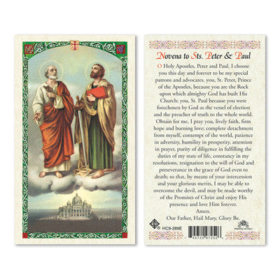 St. Peter & St. Paul Novena Prayer Card