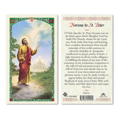 St. Peter Novena Prayer Card