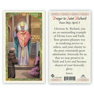 St. Richard Prayer Card