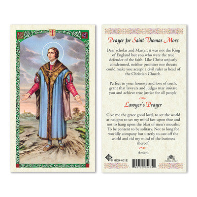 St. Thomas More Prayer Card