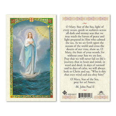 Our Lady Star of the Sea Prayer Card