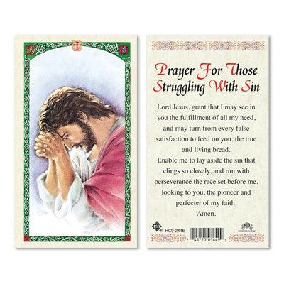 Prayer for Those Struggling with Sin Prayer Card