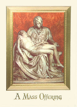 Mass card: The Pieta - BOX