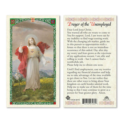 Prayer of the Unemployed Prayer Card