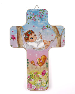 Lumen Mundi Babys Cross (Guardian Angel on Hammock)
