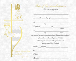 Certificate-Rite of Christian Initiation