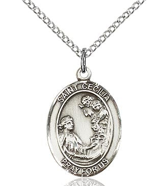 BLISS - St. Cecilia Sterling Silver Medal and Chain