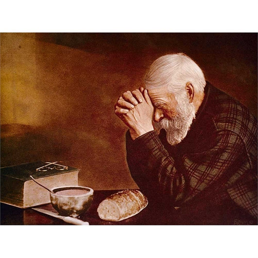 Grace Elderly Man Praying - larger print