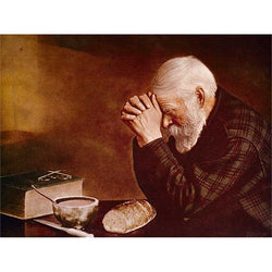 Grace, Elderly Man Praying - print