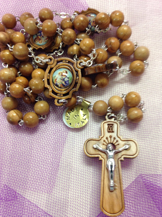 St. Joseph Light olive wood Rosary
