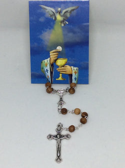 Shomali Rosary Olivewood for First Communion